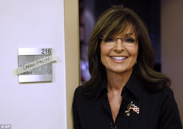 Moving in: Palin's name was posted over that of host Matt Lauer on his dressing room when she was the guest co-host on Tuesday