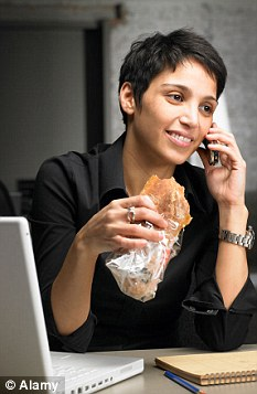 Trend: A quarter of Brits prefer to pick at snacks at work, waiting until the evening to sit down to their only meal of the day