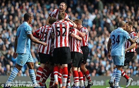 So close: Sunderland led 3-1 but were forced to settle for a single point