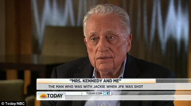 Painful memories: Jackie Kennedy's secret service agent Clint Hill appeared on the Today show to talk about his new memoir, in which he recounts John F. Kennedy's assassination in November 1963