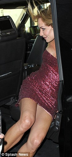 Watch out! The Real Housewives star very nearly flashes her underwear at the camera