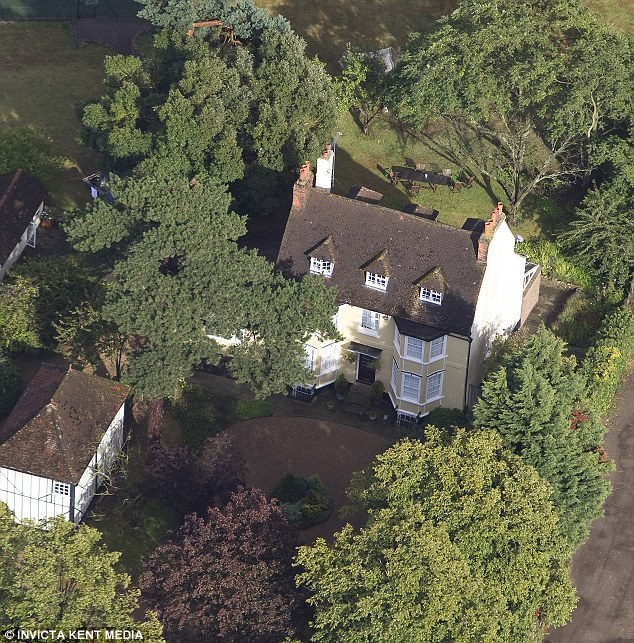 Well to do: The leafy Johnson home in Orpington, Kent