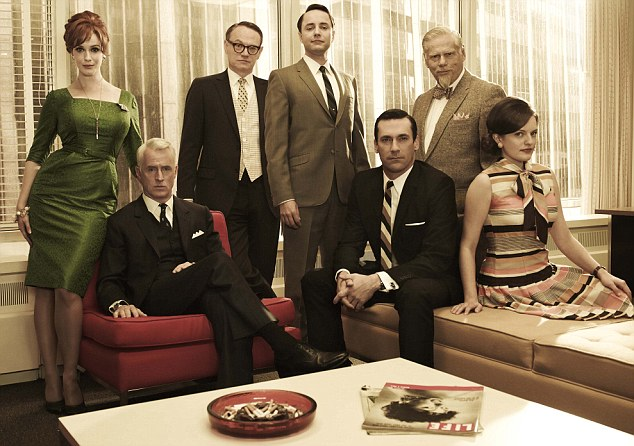 Drop: Viewing figures sank to just 47,000 for the third episode of the fifth series of Mad Men on Sky, down from 355,000 during the premiere of the fourth series when it was shown on BBC4