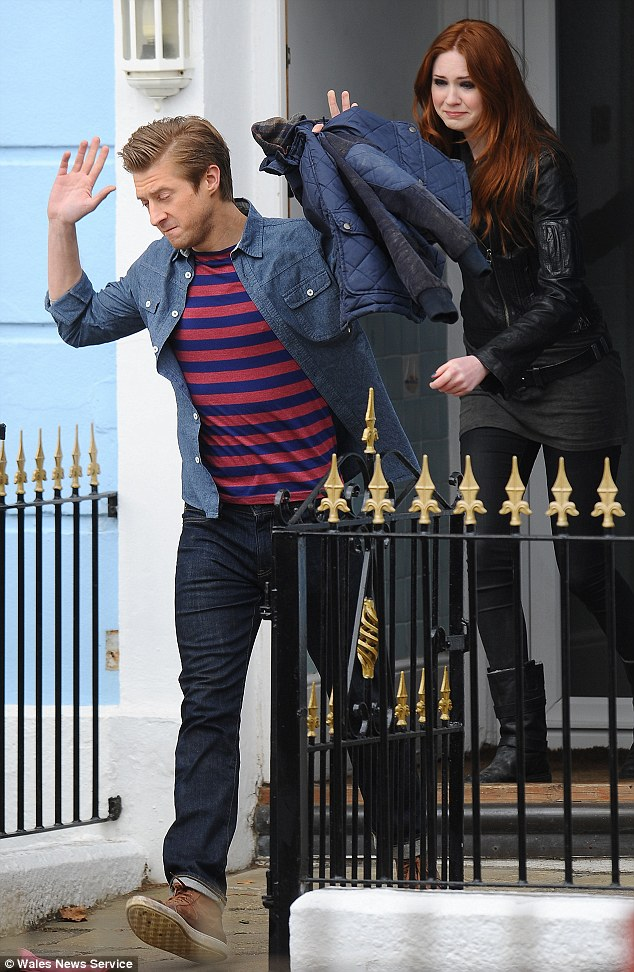 I've had enough! Gillan was filming a scene where she has an argument with her onscreen husband Rory Williams who is played by Arthur Darvill