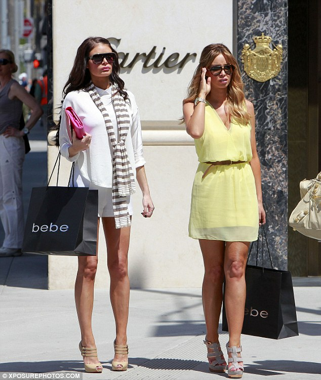 Uptown girls: Chloe and Lauren dressed very differently and looked more elegant for their trip to Rodeo Drive, Beverly Hills