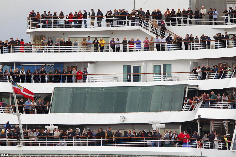 Thousands boarded the Balmoral cruise ship before it left Southampton but disaster struck just two hours in when the weather caused delays
