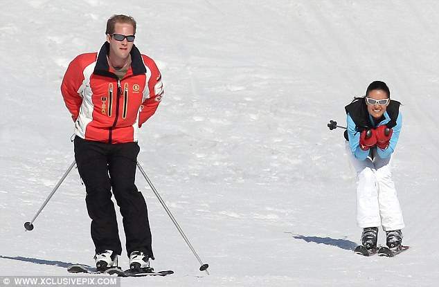 Pippa can't hide her delight to be on the slopes with her nearest and dearest