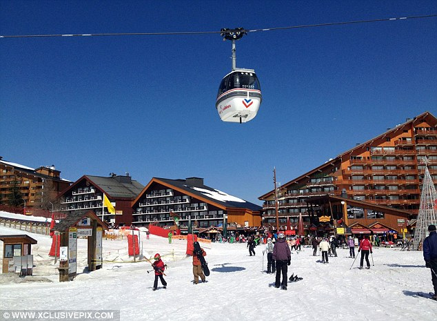 The upmarket resort was teaming with skiers when the Middleton family visited