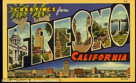 Sunny and beautiful: Fresno was followed by Tulsa, Oklahoma in the top ten list that featured New York and San Francisco