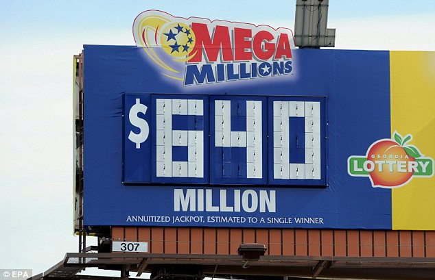 Mega bucks: The jackpot was the biggest in Mega Millions history, and the three winners - one each in Maryland, Illinois and Kansas - will each receive more than $218million before taxes