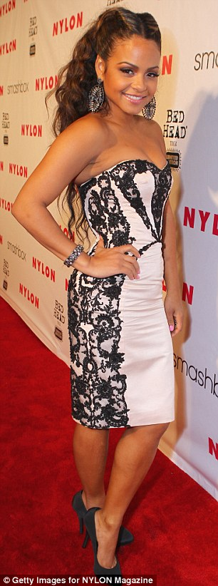 Double whammy: Christina Milian attended the NYLON Magazine 13th Anniversary Celebration held at Smashbox before heading to dinner last night
