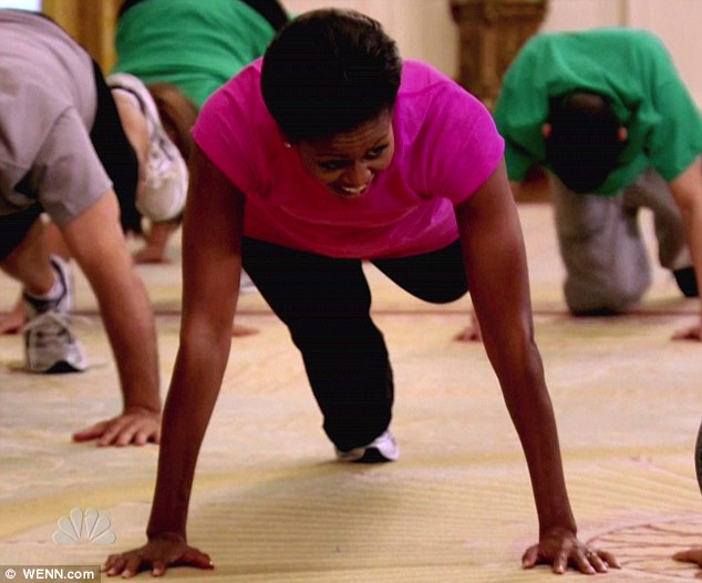 Exercise expertise: Michelle Obama's guest appearance The Biggest Loser was part of her 'Let's Move' initiative