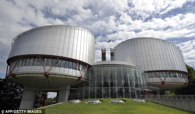 Moving on: Hamza was cleared for extradition to the US yesterday by the European Court of Human Rights, pictured, along with four other terror suspects