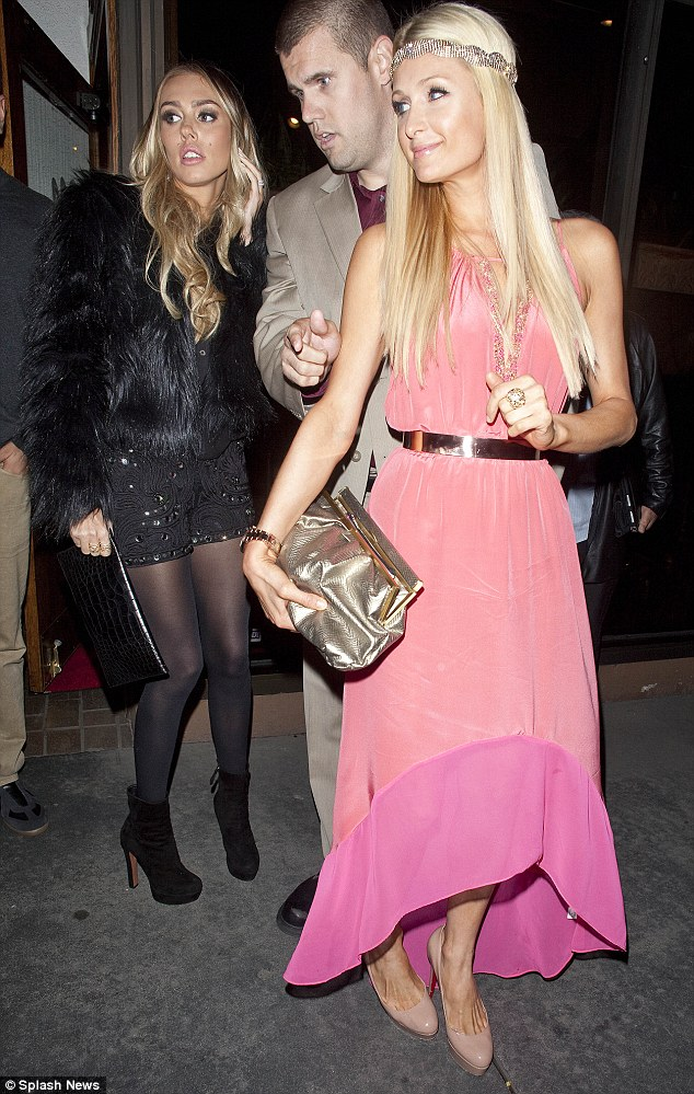 Billionaire Barbies: Petra was seen out in Hollywood with heiress Paris Hilton last night