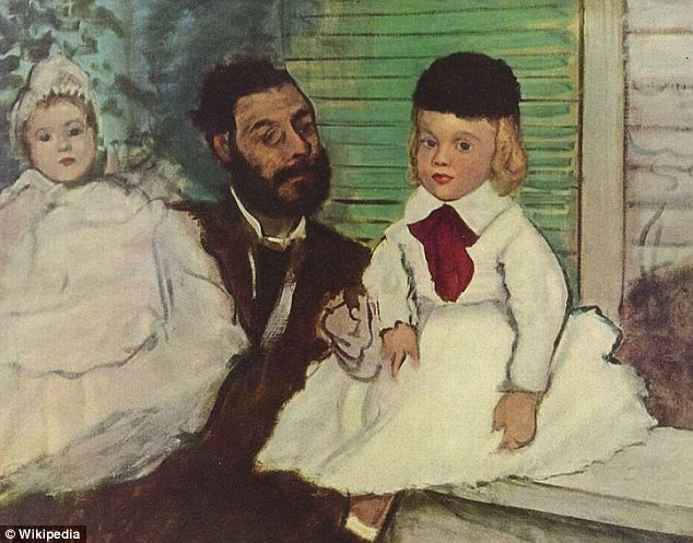 Still missing: Degas' Ludovic Lepic and his Daughter, worth about £6.9million ($11million) is still missing
