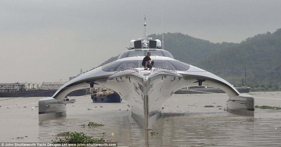 Great unveiling: The Adastra during its grand launch in China yesterday