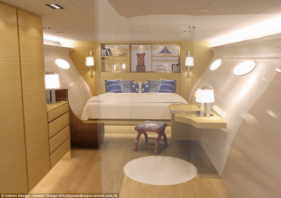 Lavish: The master bedroom has all the luxury you might expect in a 5-star hotel