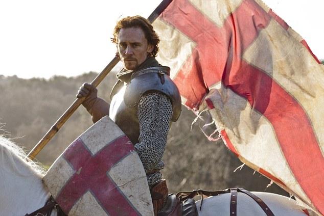 Fighting fit: Tom Hiddleston as Henry V