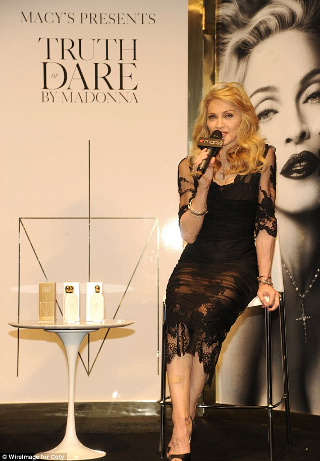 Still got it: Madonna launches her first signature fragrance, Truth Or Dare By Madonna at Macy's Herald Square in New York City