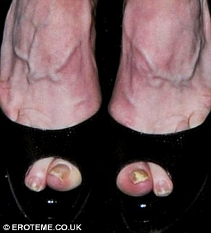 Don't forget the pedicure! Madonn'a feet looked a little ungroomed compared to the rest of her appearance