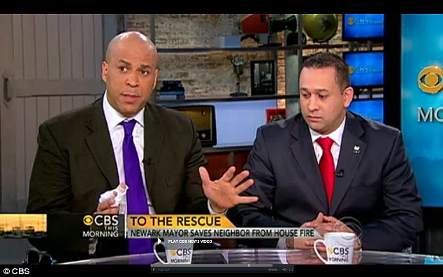 Scary: Mayor Cory Booker Newark police detective Alex Rodriguez discuss the frightening ordeal on CBS's This Morning