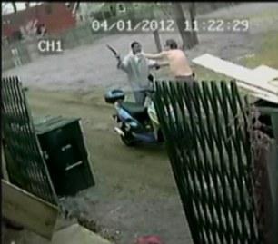 Mr Gramza confronts robber