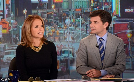 Viewers are more use to seeing George Stephanopoulos host the Good Morning America show with guests like Katie Couric (left)