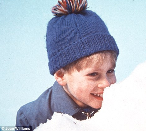 Prince Edward in the snow at Sandringham