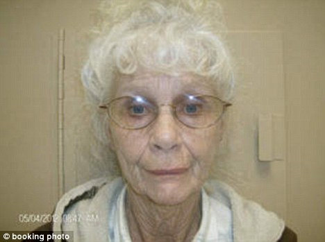 Kingpin: Police arrested 73-year-old Darlene Mayes after they allegedly found her with six pounds of marijuana and around $270,000