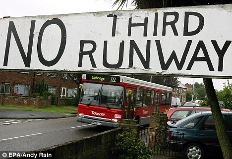 The plans for a third runway have been met with constant strong opposition from local residents near the proposed site