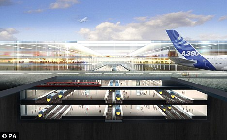 The four-runway airport in the Thames would be capable of handling 150 million passengers a year, but there are concerns about airspace congestion