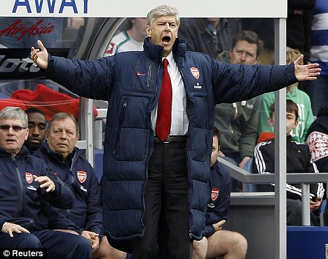 Plea: Arsenal boss Arsene Wenger wants players that dive to be banned