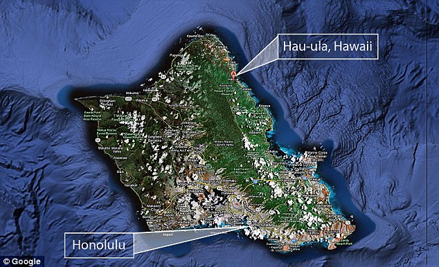 Location: Carter went missing from his home in Hau'ula, Hawaii, pictured. His adoptive parents moved to New Jersey