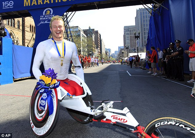 Men's wheelchair winner Joshua Cassidy