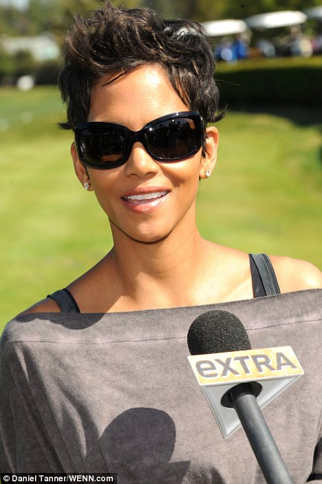 Fun day out: The actress attended the Celebrity Golf Classic at the Wilshire Country Club