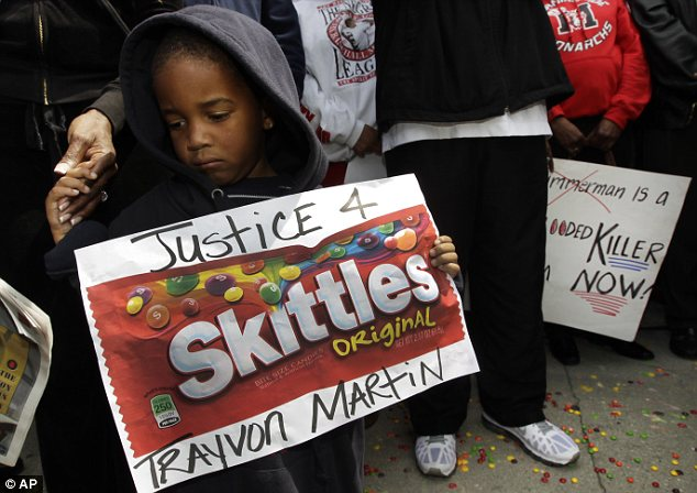 March: Thousands have protested over Trayvon's killing, which many see as racially motivated