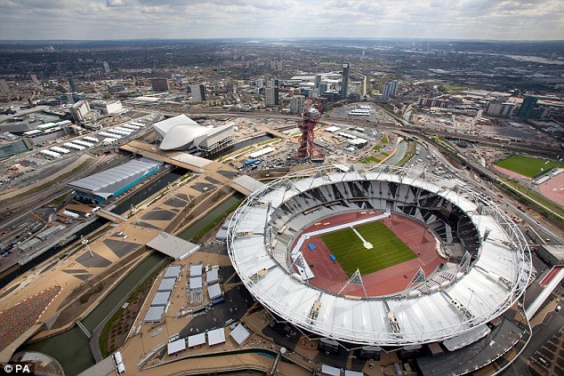 Final preparations: The Olympic Park is nearing completion in east London