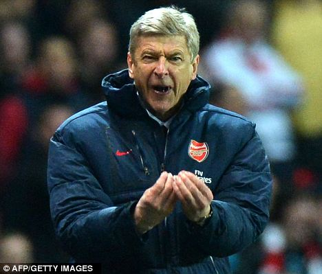 Angry: Arsenal manager Arsene Wenger