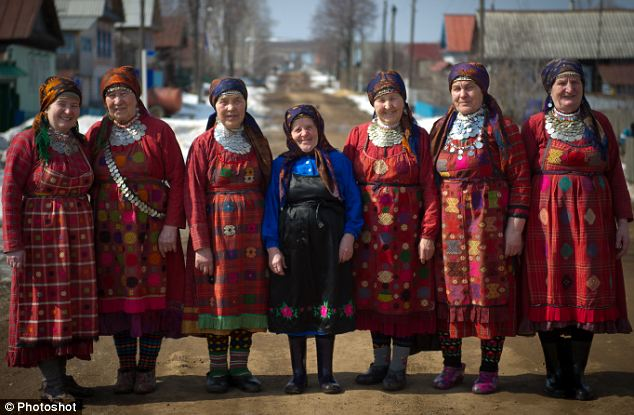 Simple life: Most of the Buranovski Grannies spent their working lives as farmers and in between rehearsals continue their lives of domestic and agricultural chores
