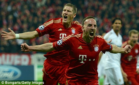 Key man: Ribery has put Bayern ahead early in the Champions League semi