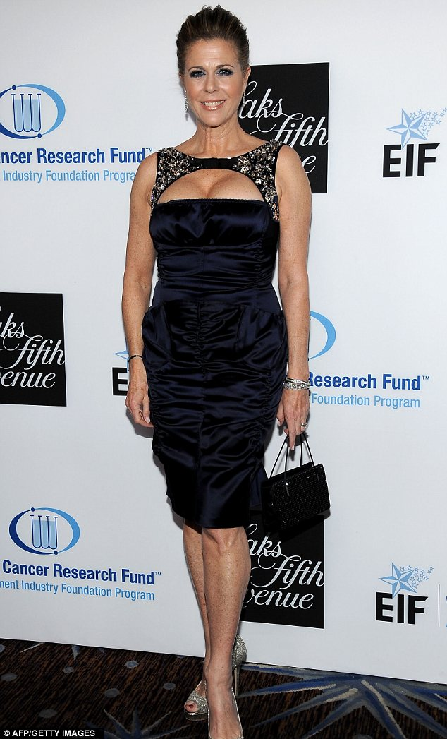 That's one way to make an impact: Rita Willson donned a cleavage-popping ensemble to attend EIF's Women's Cancer Research Fund 'An Unforgettable Evening' in Beverly Hills tonight