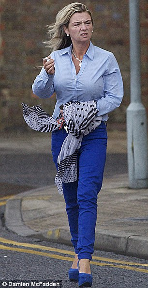 Josie Connors leaving Luton Crown Court yesterday