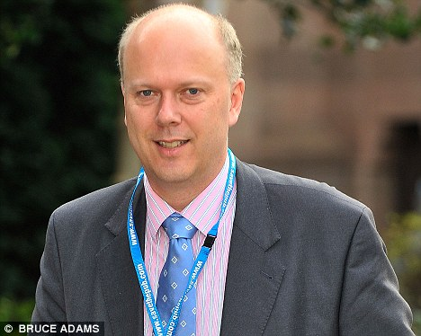 Good news: Chris Grayling heralded the unemployment figures as a step in the right direction - but said there was still a lot of work to do