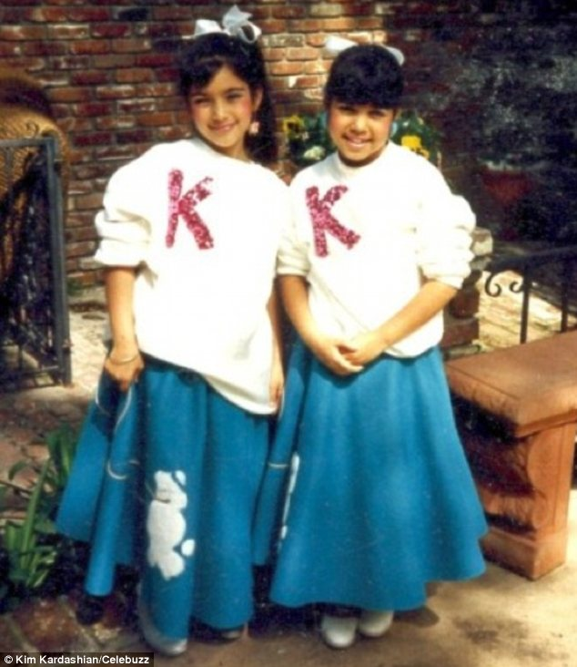 Grease is the word!: The sisters can be seen in matching 1950s poodle skirts and 'K' jumpers in one photo