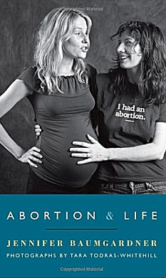 Pro-choice: The T-shirts were part of a book signing and discussion lead by third-wave feminist activist, and Jennifer Baumgardner, who supports both abortion and life