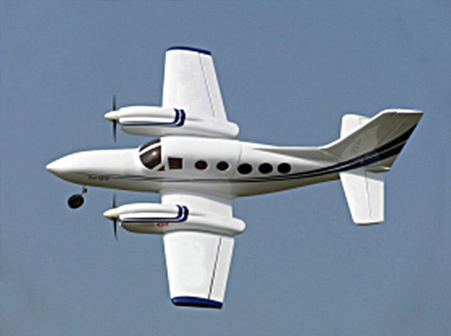 Midair scare: The pilot, who has not yet been identified, was flying in a duel-engine Cessna 421C, like the one pictured here