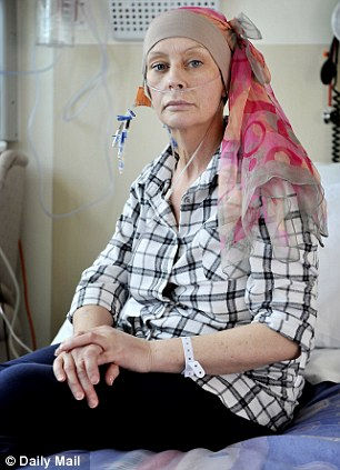 Susan today, after two courses of chemotherapy