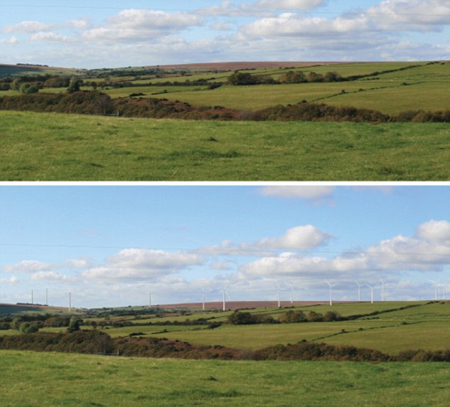 RES Energy's projections of what the Bryn Llywelyn wind farm in Wales will look like