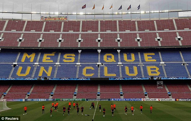 Pure theatre: The Nou Camp will play host to Tuesday night's second leg