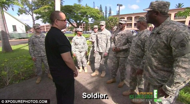 Revisiting the past: After the adventurous ride, they decided to visit the Schofield Barracks, where Ice had served four years in the 25th Infantry Division of the United States Army